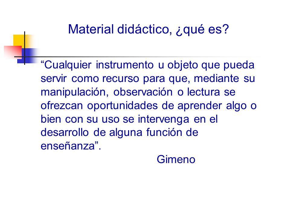 Material didáctico, ¿qué es