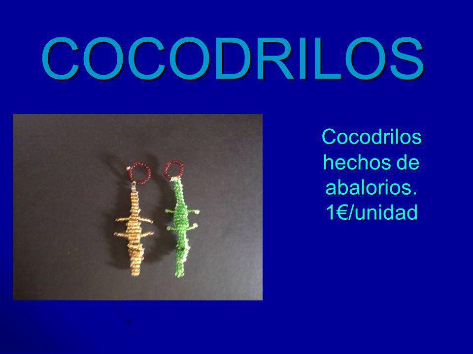 Cocodrilos hechos de abalorios. 1€/unidad