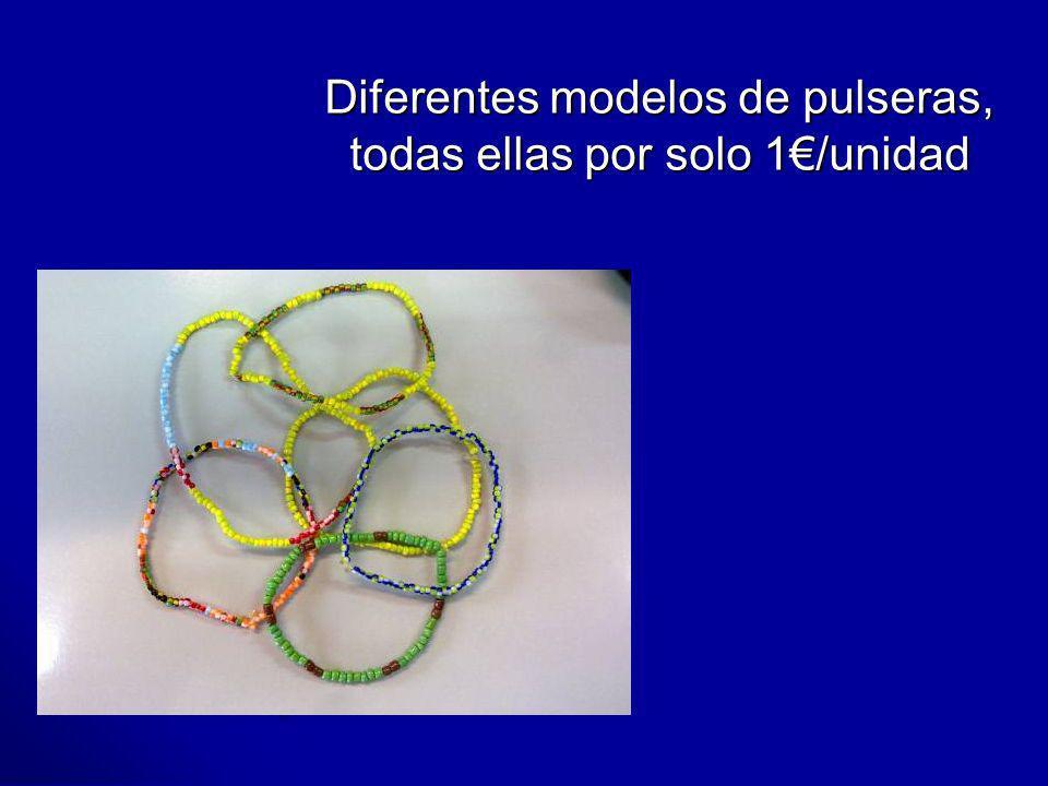 Diferentes modelos de pulseras, todas ellas por solo 1€/unidad
