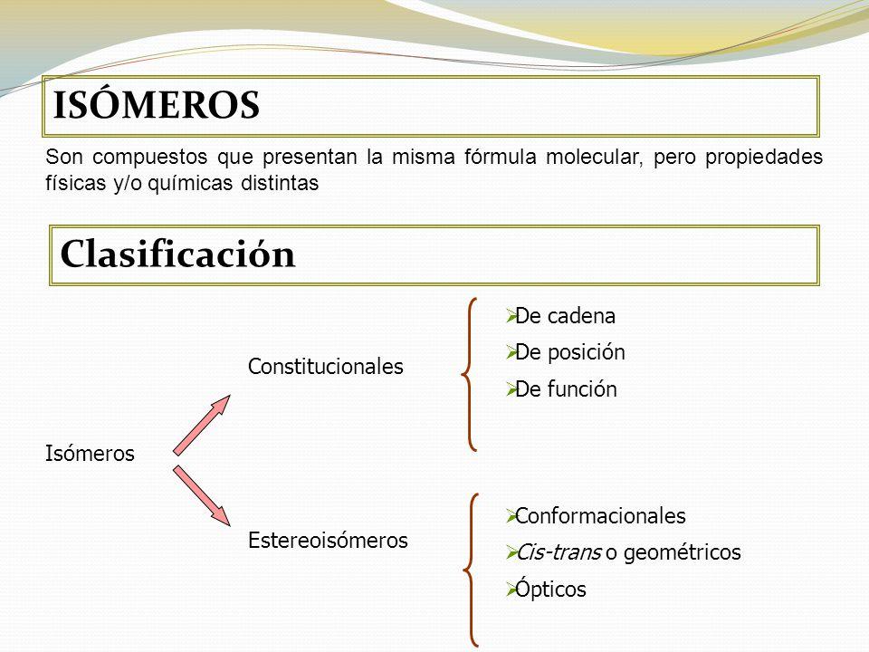 ISÓMEROS Clasificación