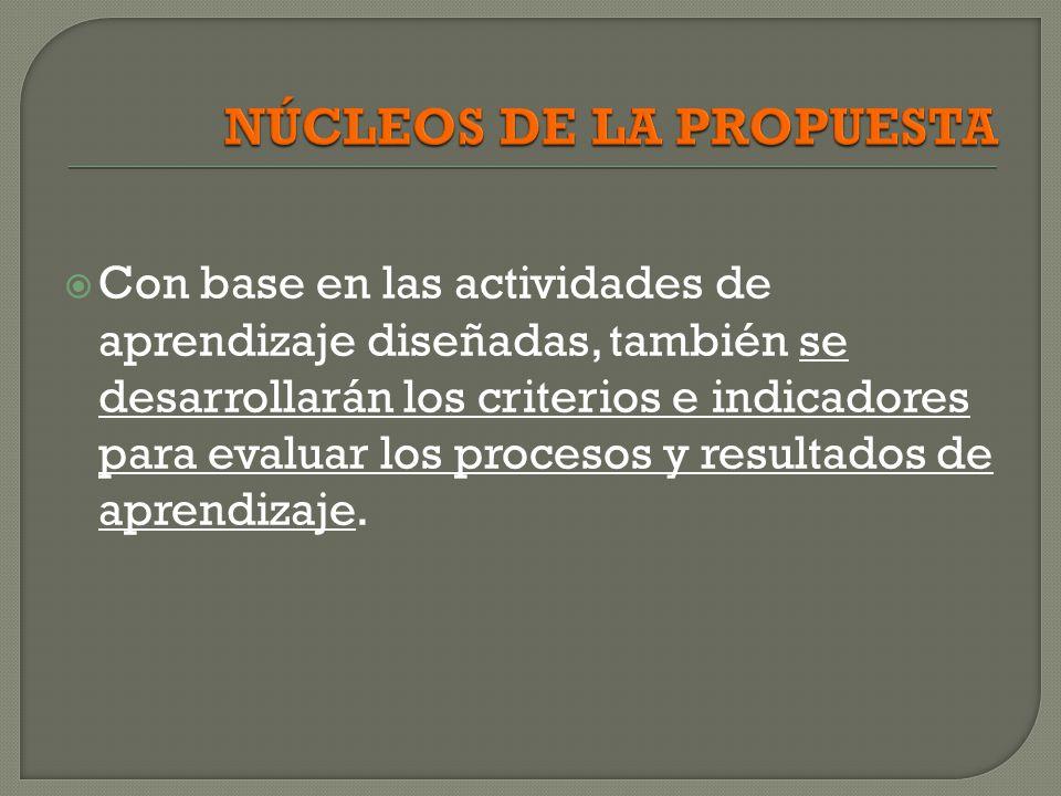 NÚCLEOS DE LA PROPUESTA