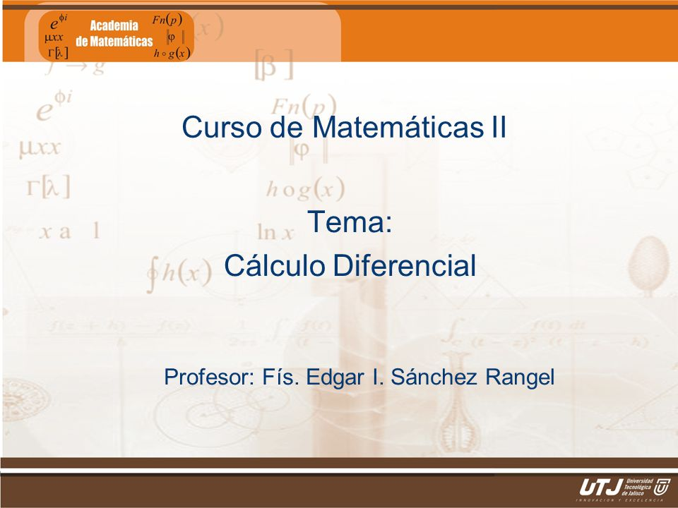 Curso de Matemáticas II