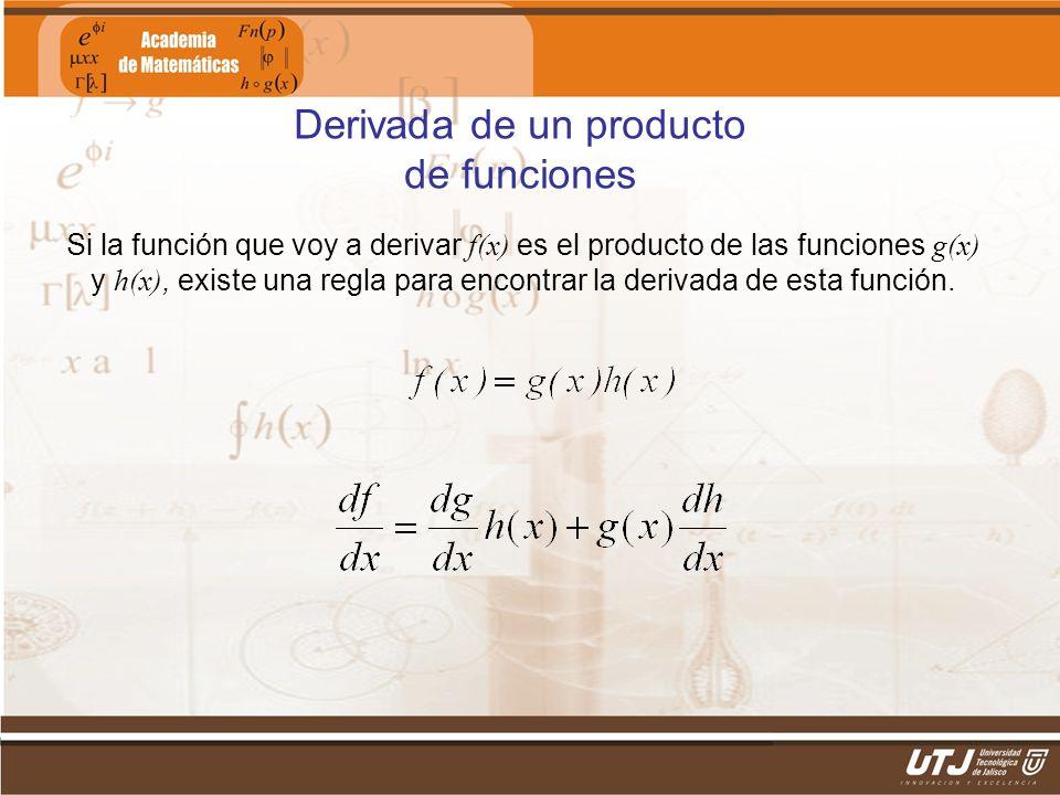 Derivada de un producto de funciones