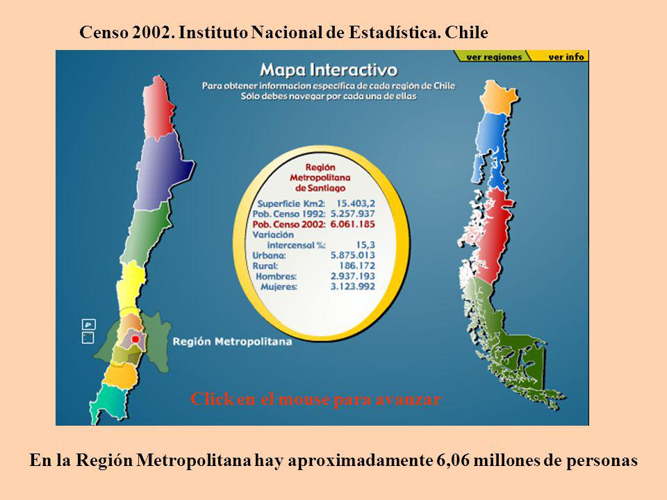 Censo 2002. Instituto Nacional de Estadística. Chile