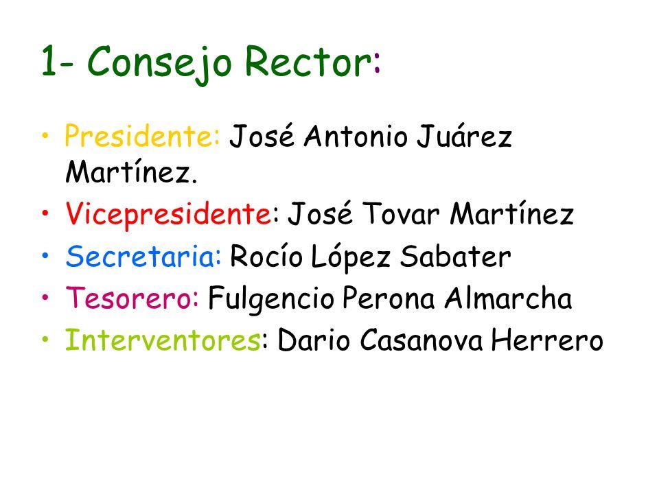 1- Consejo Rector: Presidente: José Antonio Juárez Martínez.