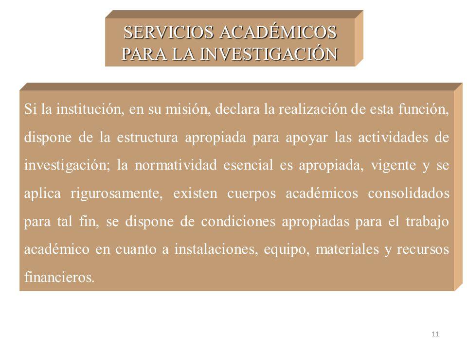 SERVICIOS ACADÉMICOS PARA LA INVESTIGACIÓN