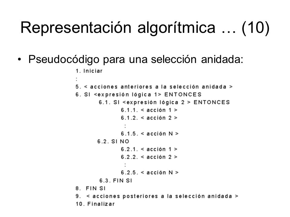 Representación algorítmica … (10)