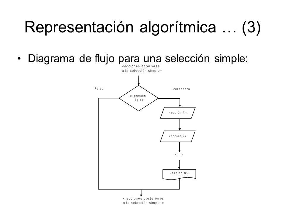 Representación algorítmica … (3)
