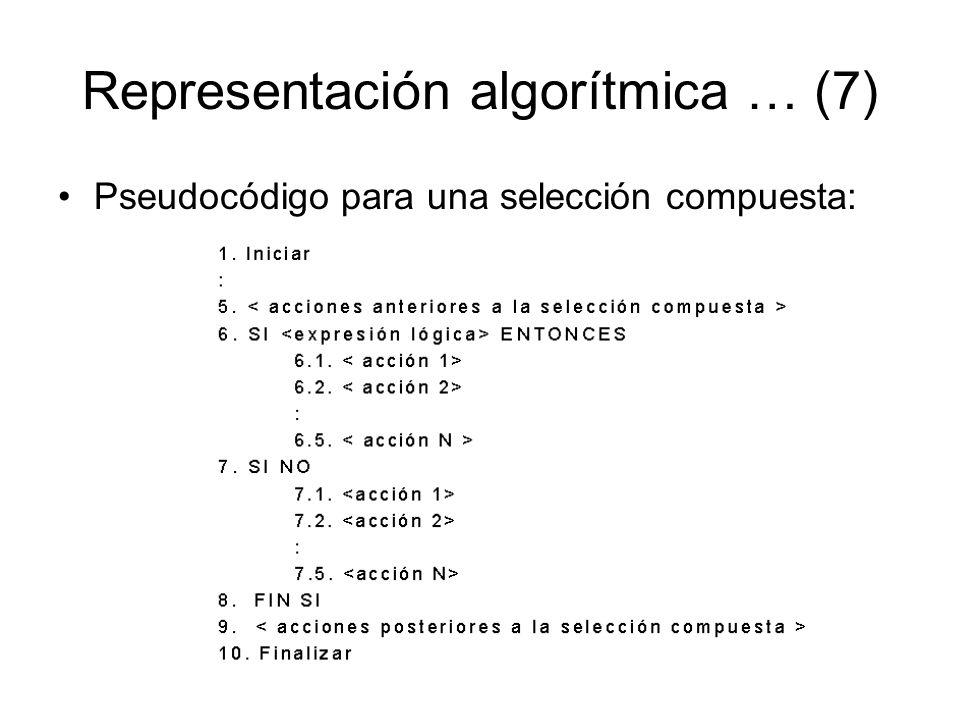 Representación algorítmica … (7)
