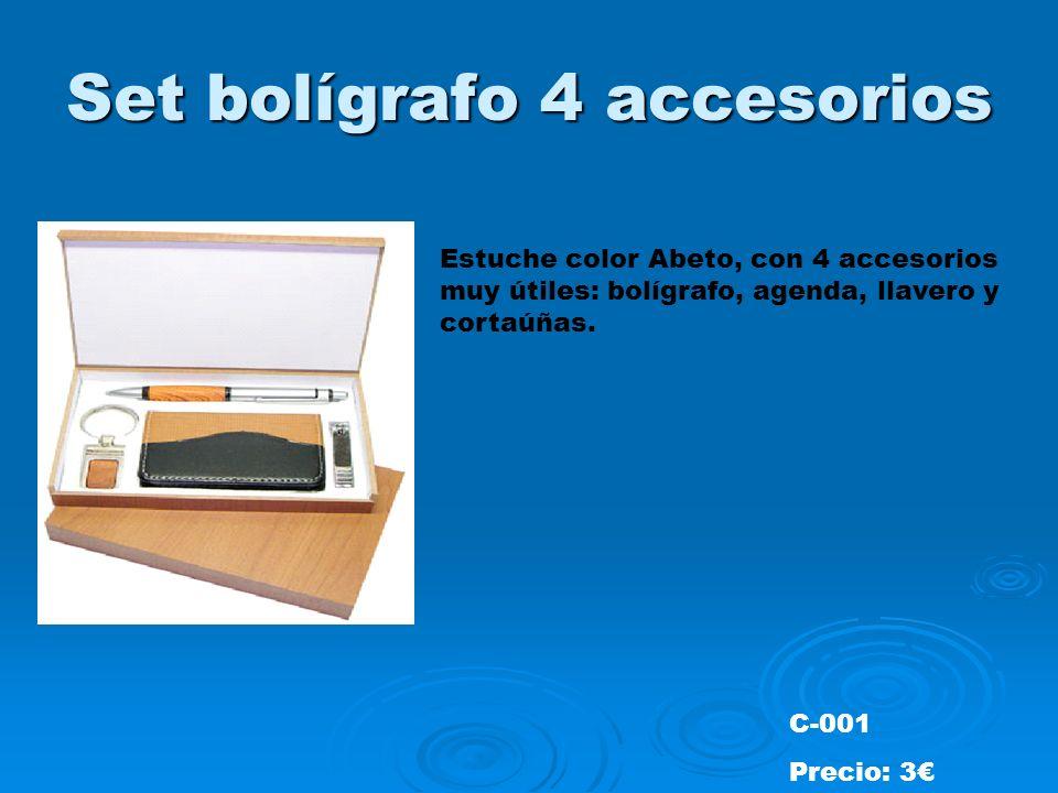 Set bolígrafo 4 accesorios