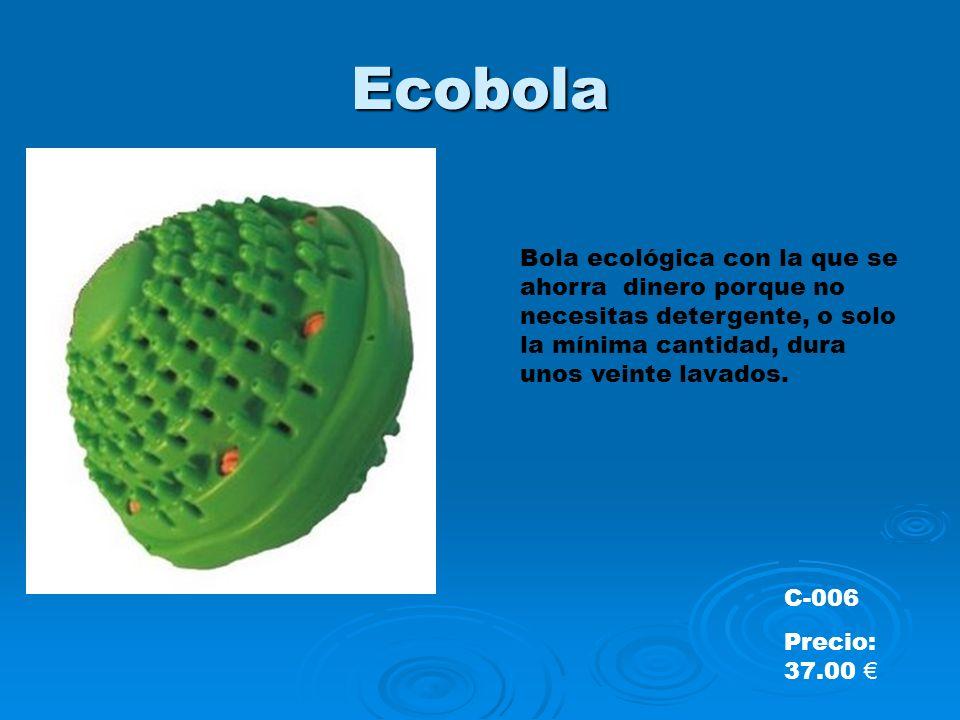 EcobolaBola ecológica con la que se ahorra dinero porque no necesitas detergente, o solo la mínima cantidad, dura unos veinte lavados.