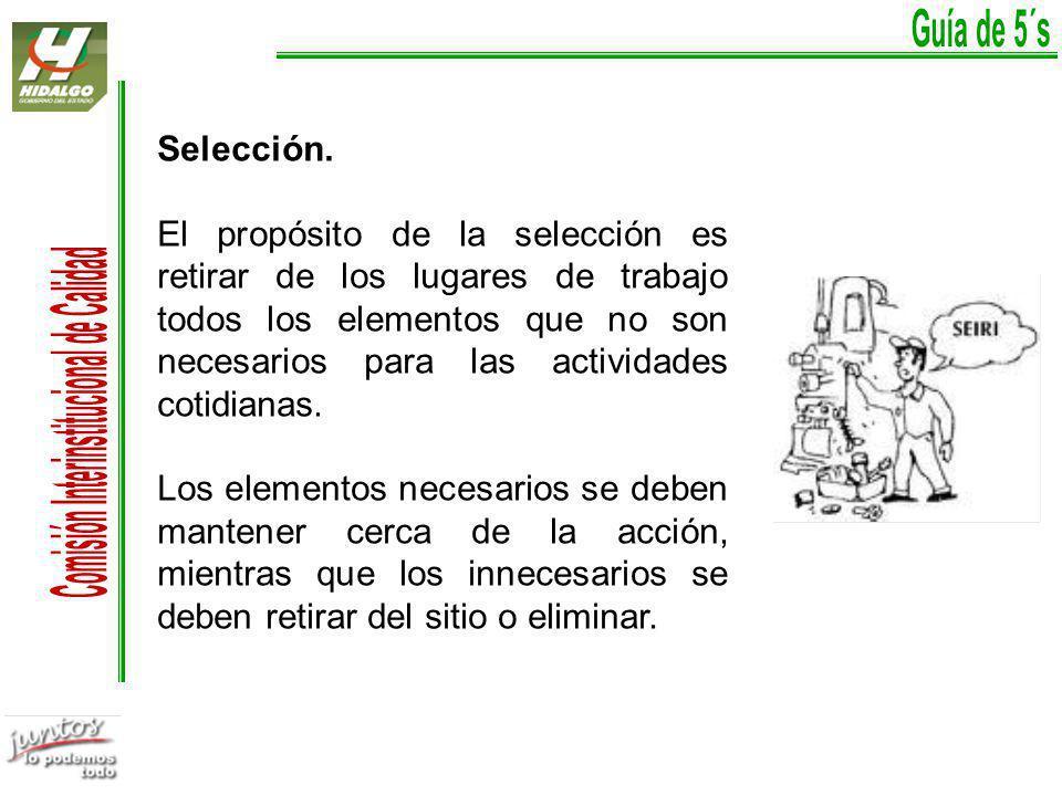 Guía de 5´s Selección.
