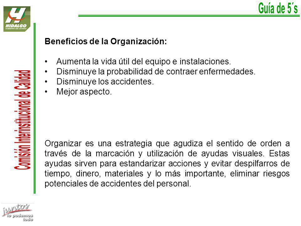 Beneficios de la Organización: