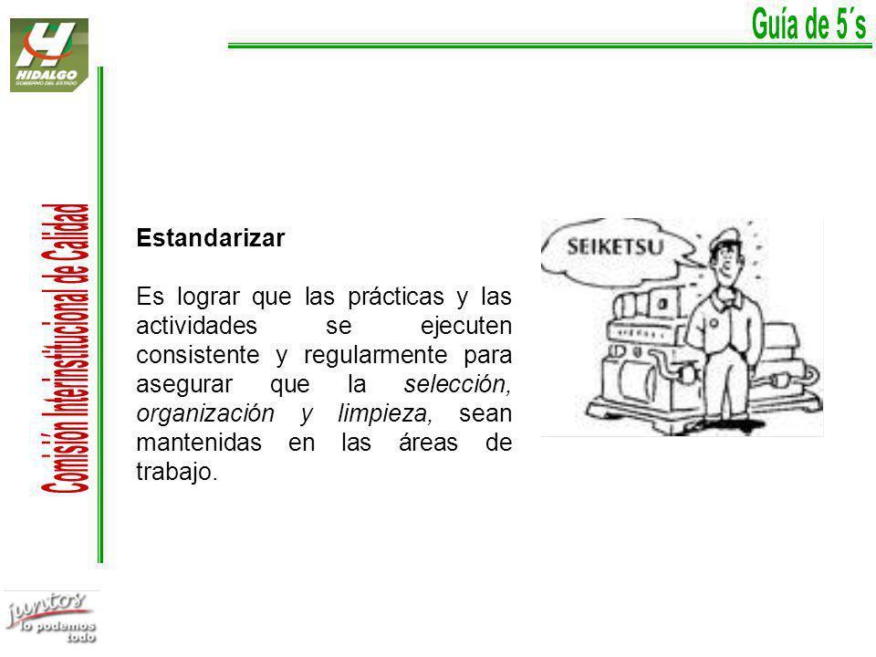 Guía de 5´s Estandarizar.