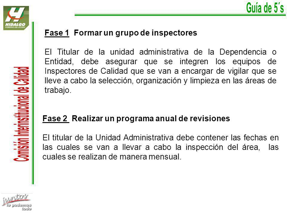 Fase 1 Formar un grupo de inspectores
