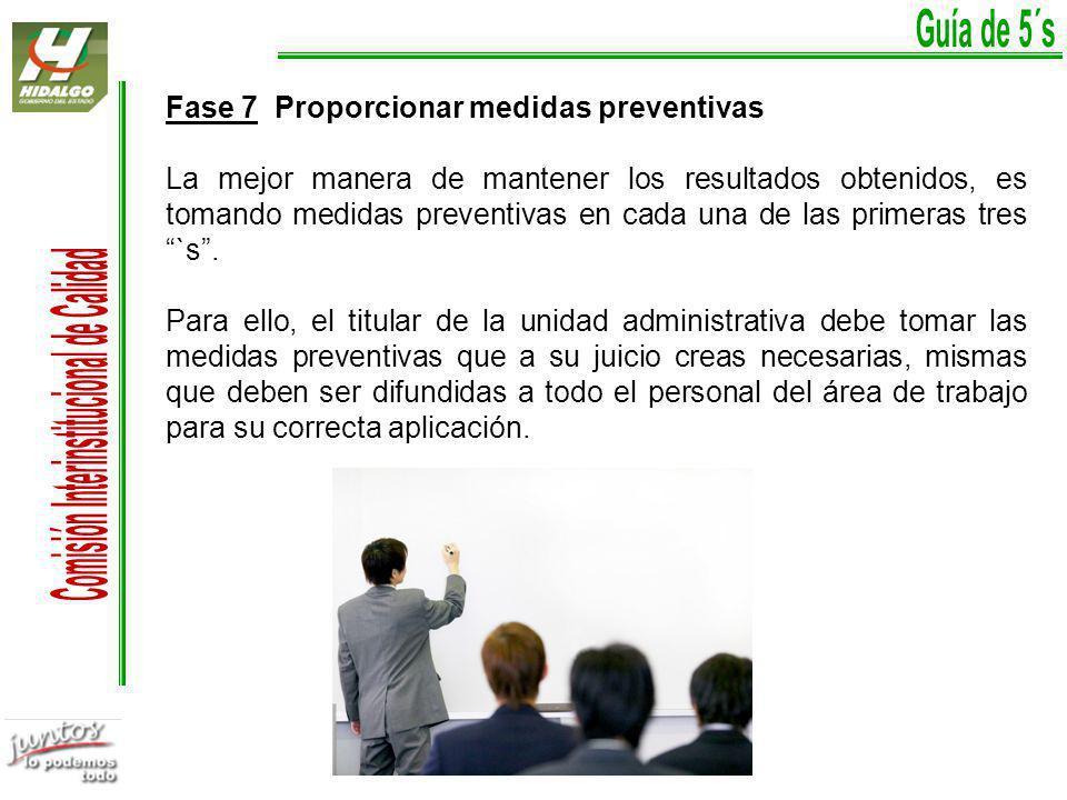 Fase 7 Proporcionar medidas preventivas