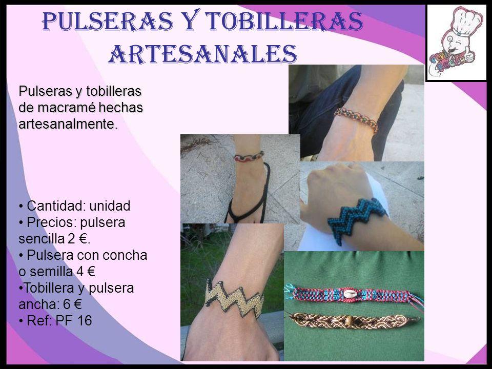 PULSERAS Y TOBILLERAS ARTESANALES