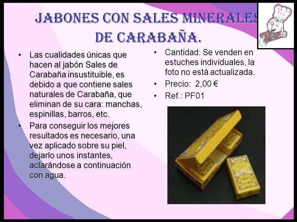 Jabones con sales minerales de Carabaña.