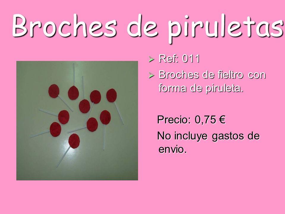 Broches de piruletas Ref: 011