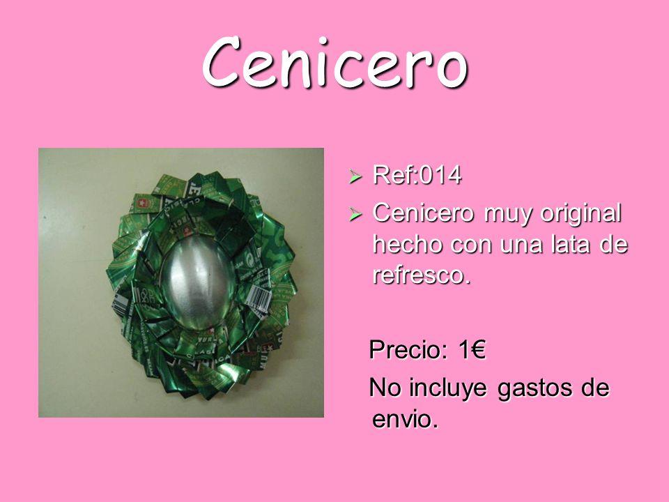 Cenicero Ref:014 Cenicero muy original hecho con una lata de refresco.