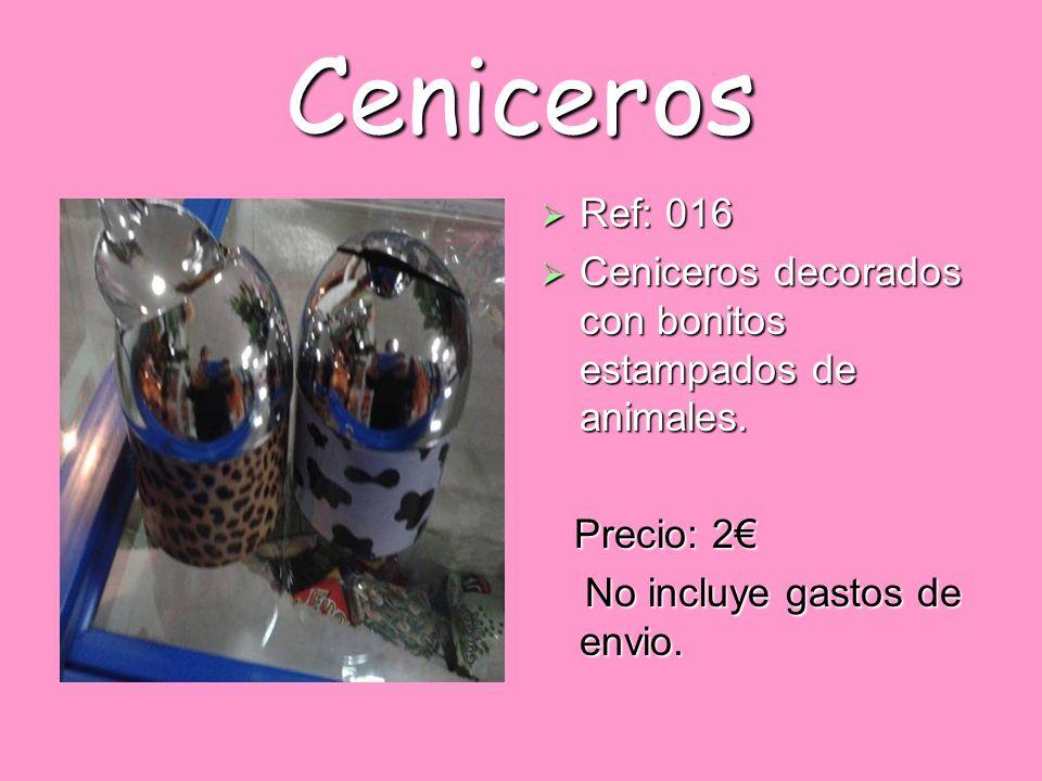 Ceniceros Ref: 016. Ceniceros decorados con bonitos estampados de animales.