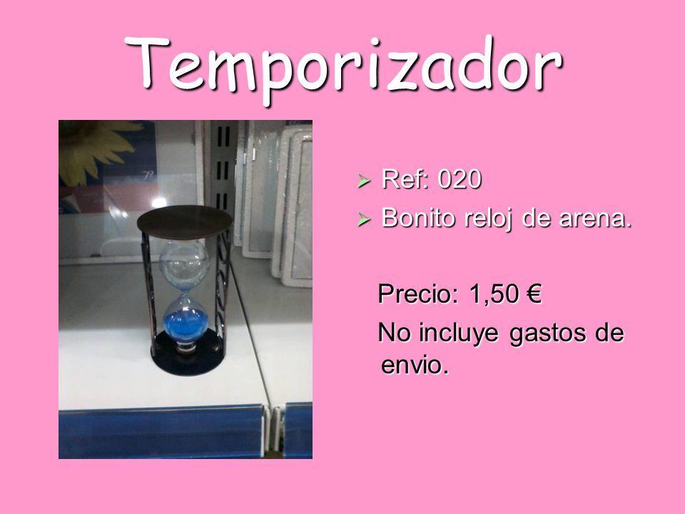Temporizador Ref: 020 Bonito reloj de arena. Precio: 1,50 €