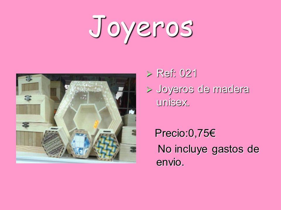 Joyeros Ref: 021 Joyeros de madera unisex. Precio:0,75€