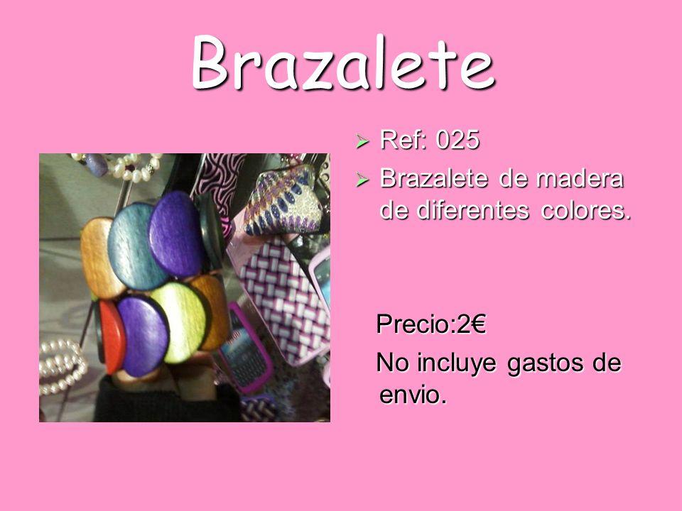 Brazalete Ref: 025 Brazalete de madera de diferentes colores.