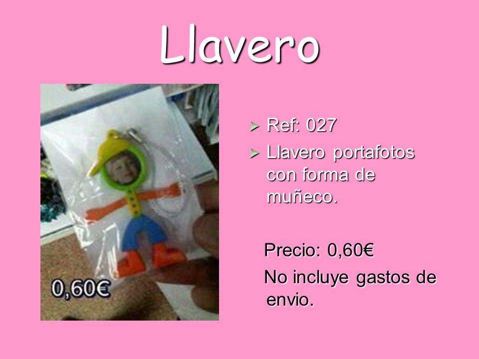 Llavero Ref: 027 Llavero portafotos con forma de muñeco. Precio: 0,60€