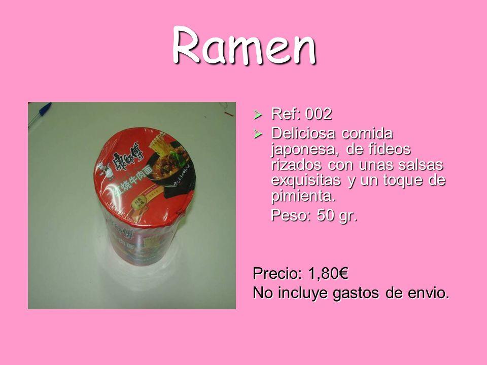 Ramen Ref: 002. Deliciosa comida japonesa, de fideos rizados con unas salsas exquisitas y un toque de pimienta.