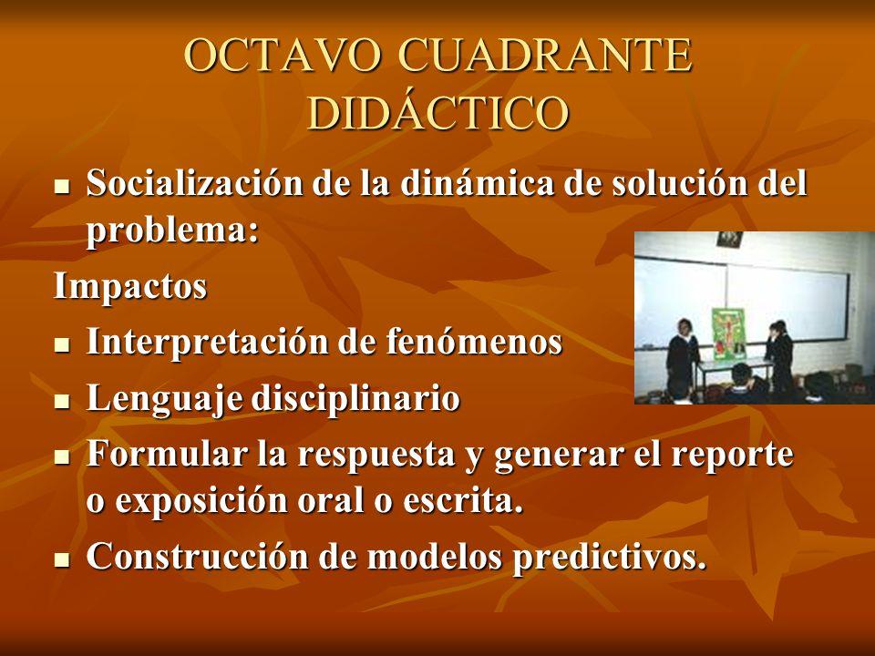 OCTAVO CUADRANTE DIDÁCTICO