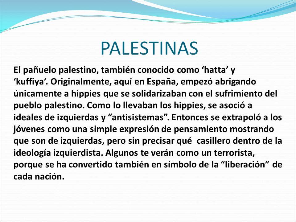El pañuelo palestino, también conocido como 'hatta' y