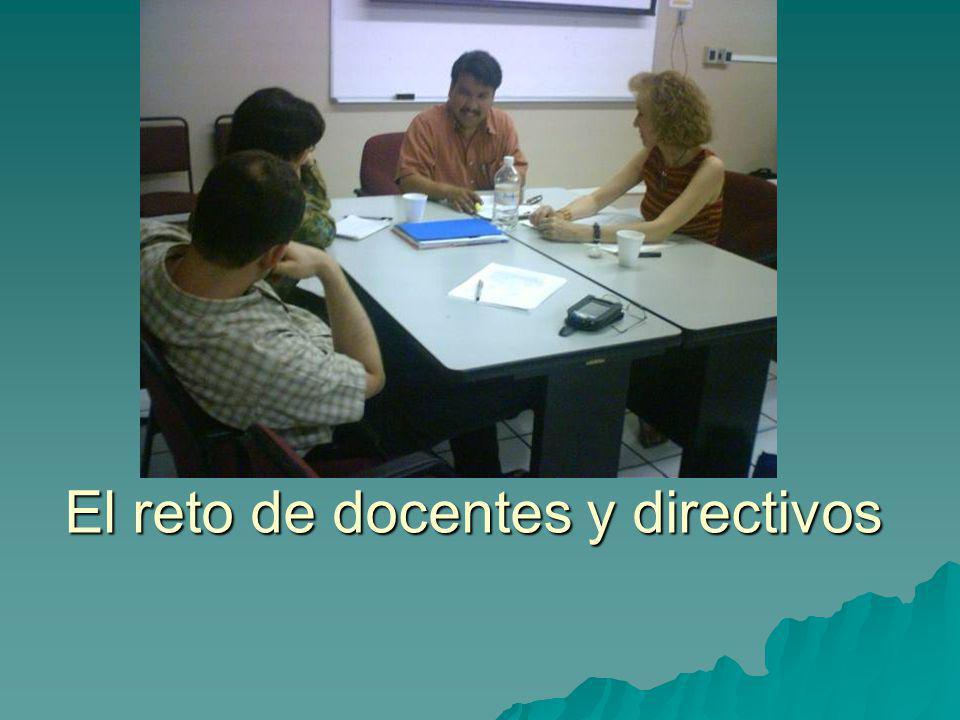 El reto de docentes y directivos