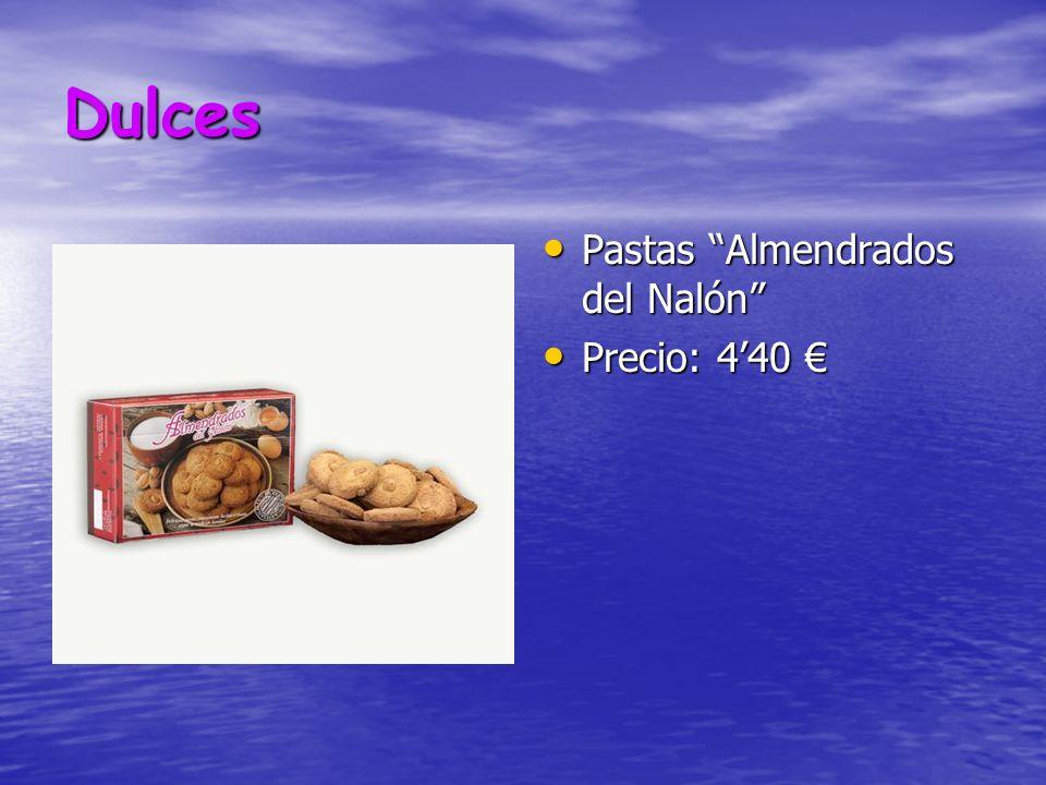 Dulces Pastas Almendrados del Nalón Precio: 4'40 €