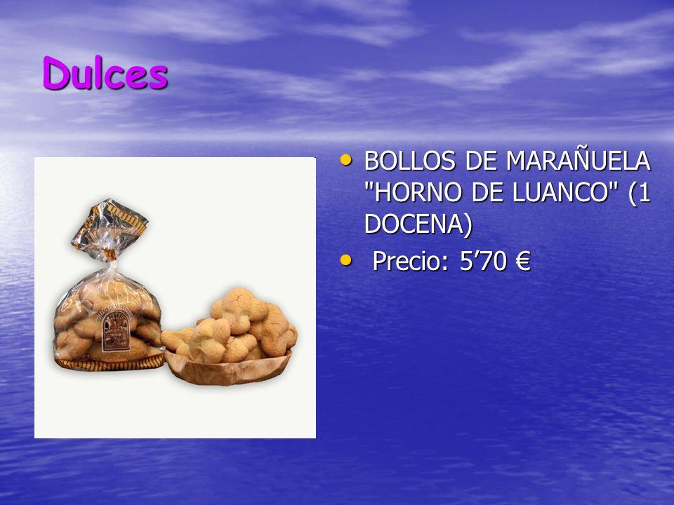 Dulces BOLLOS DE MARAÑUELA HORNO DE LUANCO (1 DOCENA) Precio: 5'70 €