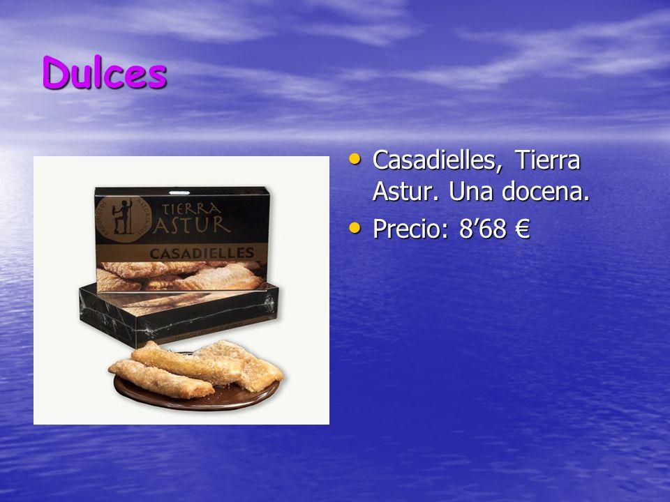 Dulces Casadielles, Tierra Astur. Una docena. Precio: 8'68 €