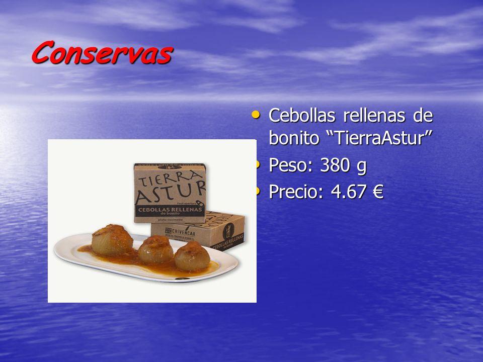 Conservas Cebollas rellenas de bonito TierraAstur Peso: 380 g