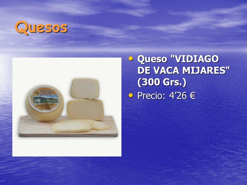 Quesos Queso VIDIAGO DE VACA MIJARES (300 Grs.) Precio: 4'26 €