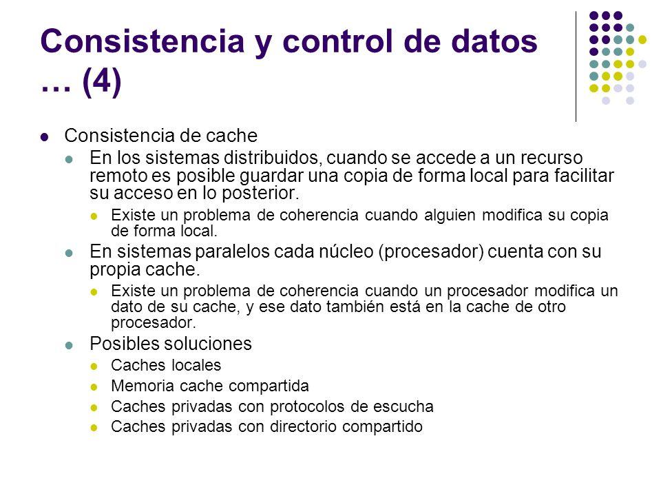 Consistencia y control de datos … (4)
