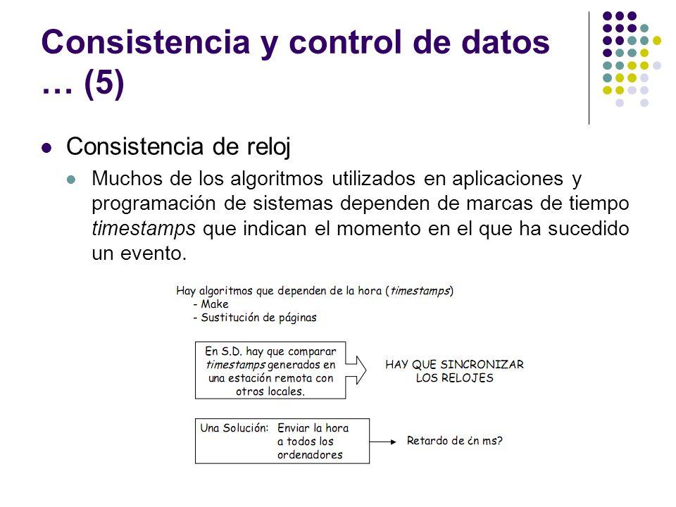 Consistencia y control de datos … (5)