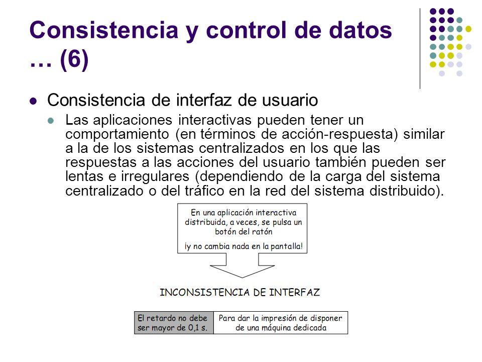 Consistencia y control de datos … (6)