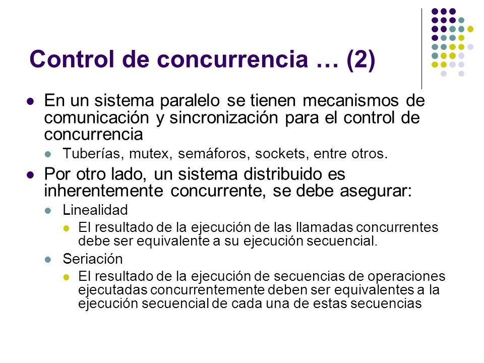 Control de concurrencia … (2)