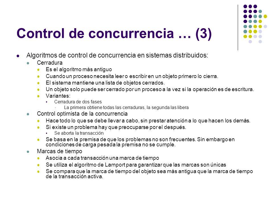 Control de concurrencia … (3)