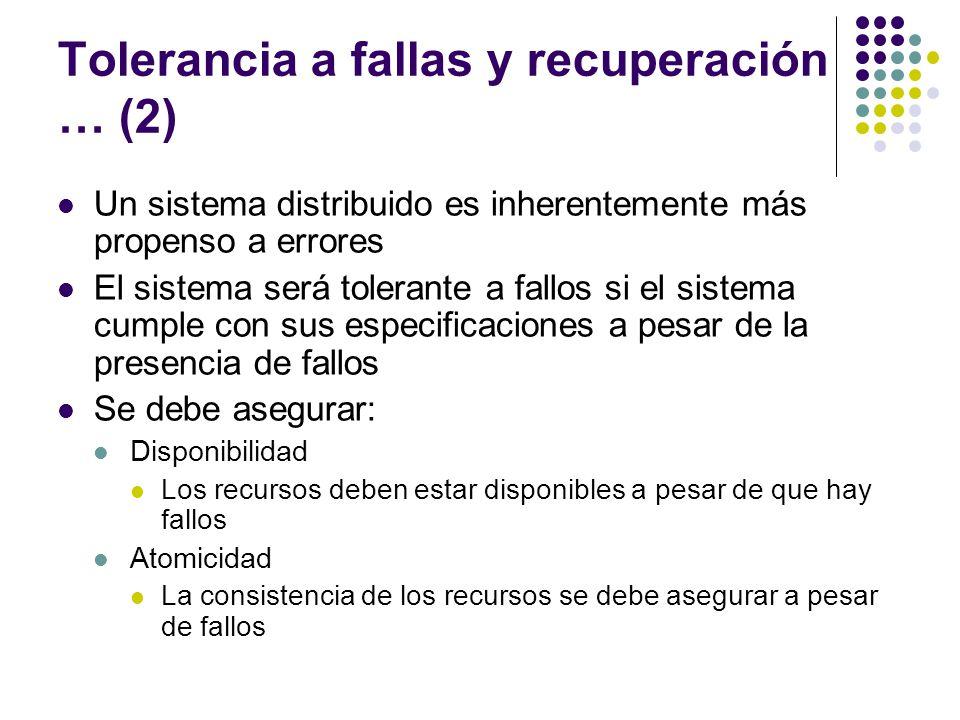 Tolerancia a fallas y recuperación … (2)