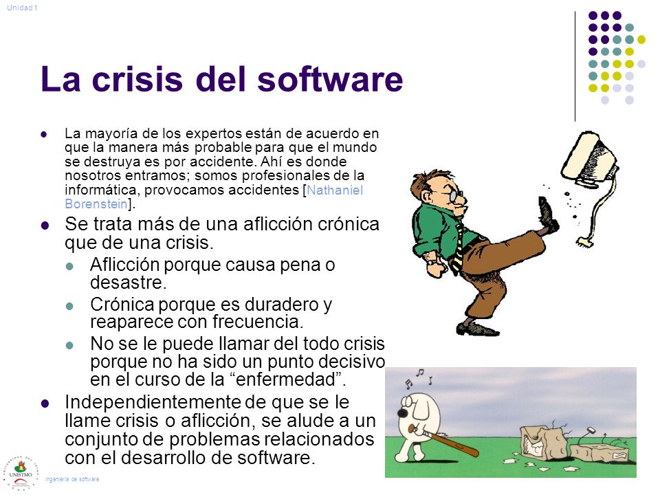 Unidad 1 La crisis del software.