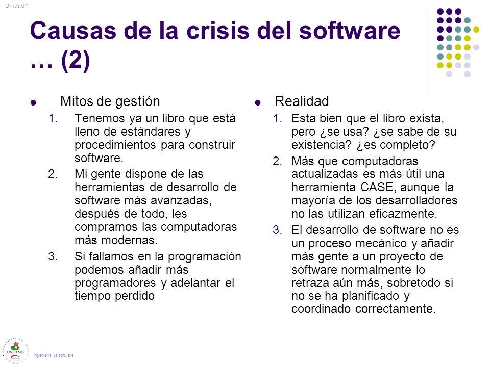 Causas de la crisis del software … (2)