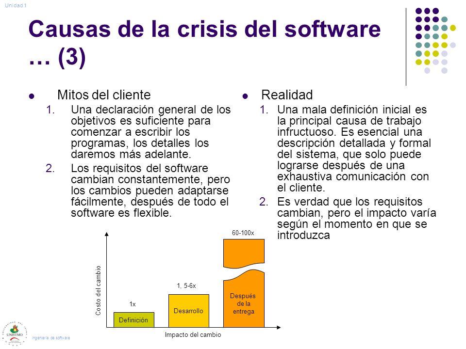 Causas de la crisis del software … (3)