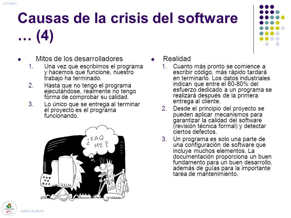 Causas de la crisis del software … (4)