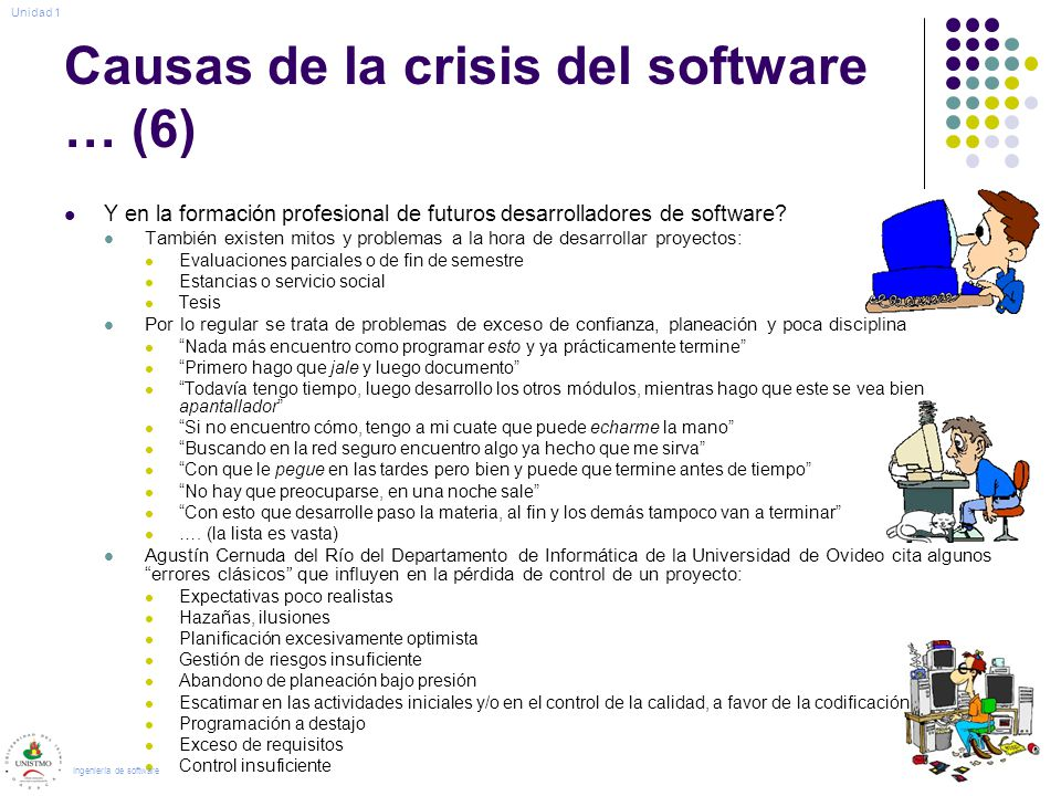 Causas de la crisis del software … (6)