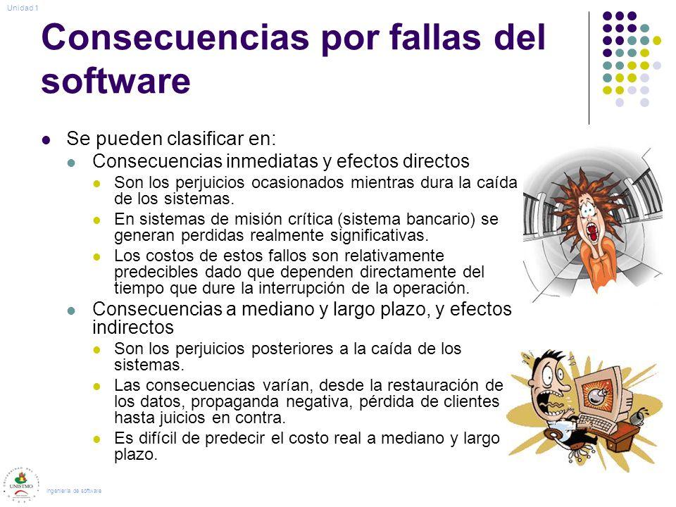 Consecuencias por fallas del software